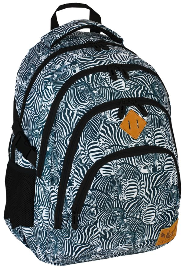 ALWAYS WILD - Plecak szkolny czarny Always Wild HS-15 HASH. Kolor: czarny. Materiał: materiał. Wzór: nadruk, aplikacja. Styl: sportowy