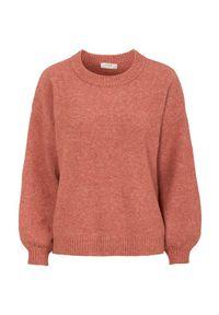 Pomarańczowy sweter Cream melanż, elegancki