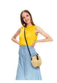Żółta koszula TOP SECRET casualowa, na co dzień, ze stójką, bez rękawów