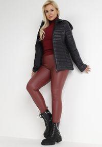 Born2be - Czarna Kurtka Katathe. Kolor: czarny. Materiał: tkanina, jeans, nylon. Długość: krótkie