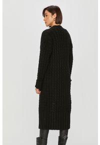 Czarny sweter rozpinany Answear Lab długi, z długim rękawem, wakacyjny