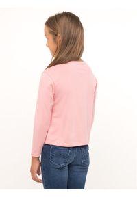Emporio Armani Bluzka 6G3T05 3J2IZ 0312 Różowy Regular Fit. Kolor: różowy