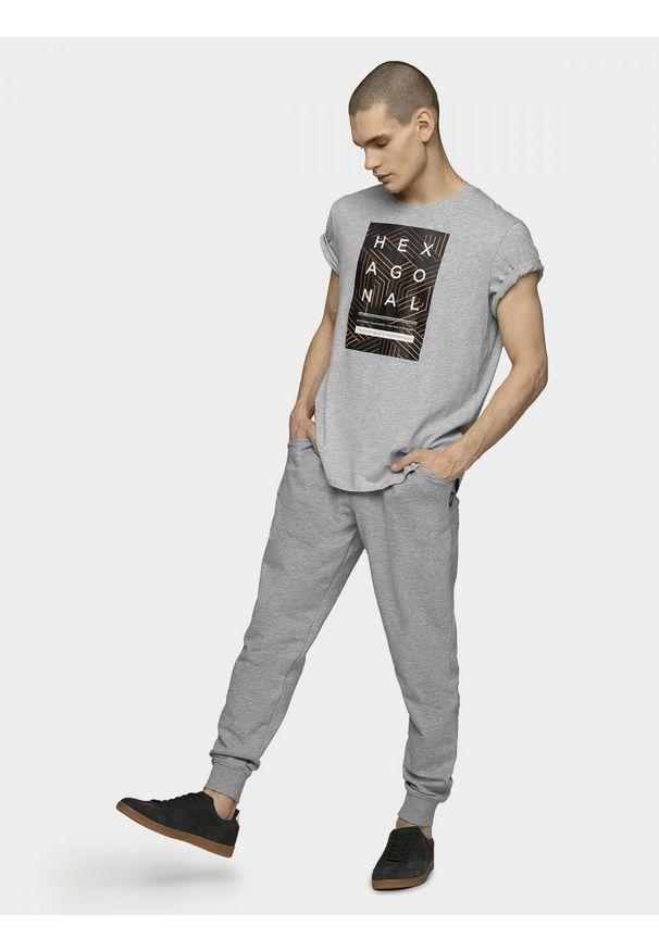 Szare spodnie dresowe outhorn melanż