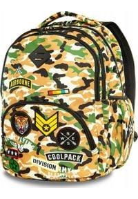 Patio Plecak szkolny Coolpack Cp Pustynne Moro brązowy. Kolor: brązowy. Wzór: moro