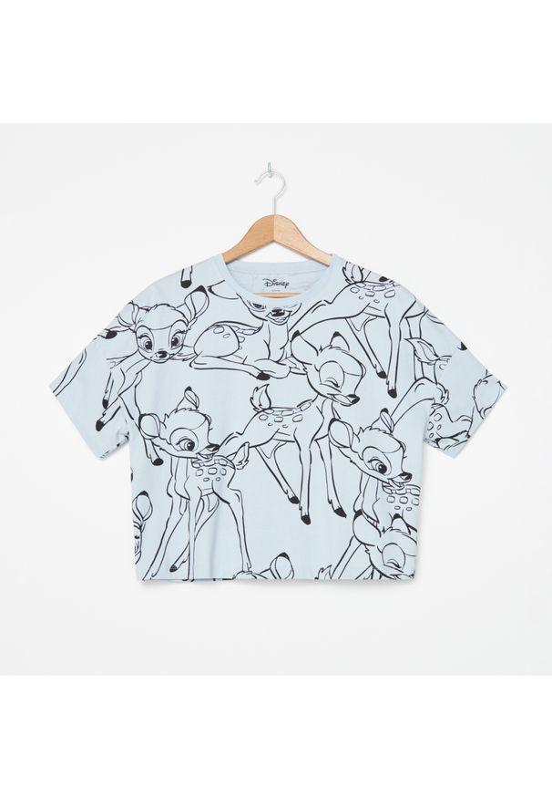 Niebieski t-shirt House krótki
