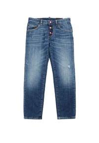 DSQUARED2 KIDS - Spodnie jeansowe 8-16 lat. Okazja: na co dzień. Kolor: niebieski. Materiał: jeans. Sezon: lato. Styl: klasyczny, casual