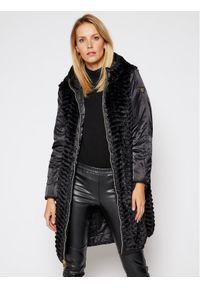 Czarny płaszcz zimowy EA7 Emporio Armani