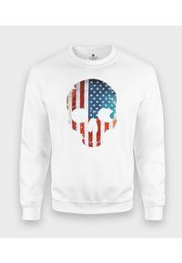 MegaKoszulki - Bluza klasyczna Amerykańska Czaszka. Styl: klasyczny