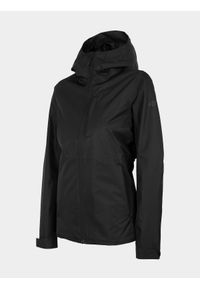 Czarna kurtka przeciwdeszczowa 4f