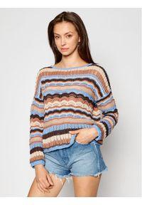 Kontatto Sweter 3M7270 Brązowy Regular Fit. Kolor: brązowy