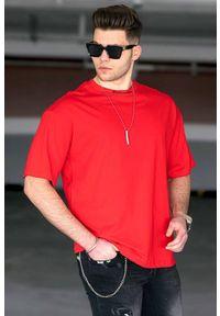 Czerwony t-shirt IVET na co dzień, klasyczny