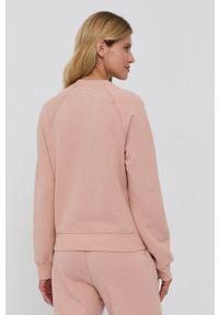 Samsoe & Samsoe - Samsoe Samsoe - Bluza. Okazja: na co dzień. Kolor: różowy. Materiał: bawełna. Długość rękawa: raglanowy rękaw. Styl: casual