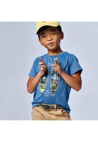 Mayoral T-Shirt 3030 Niebieski Regular Fit. Kolor: niebieski