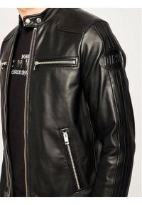 Czarna kurtka skórzana Diesel
