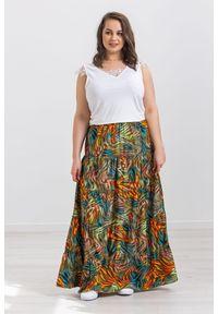 Spódnica Moda Size Plus Iwanek z motywem zwierzęcym, na wiosnę