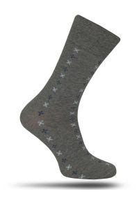 Skarpetki More - Delikatny Wzór - Popiel, Męskie. Materiał: tkanina, bawełna, poliamid, elastan