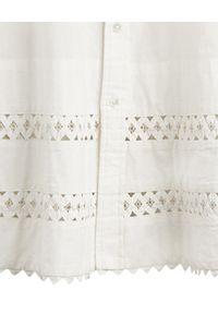 Ralph Lauren - RALPH LAUREN - Biała sukienka z koronką. Typ kołnierza: polo. Kolor: biały. Materiał: koronka. Długość rękawa: długi rękaw. Wzór: koronka. Długość: mini #3