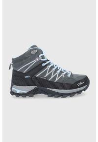 CMP - Buty Rigel. Nosek buta: okrągły. Zapięcie: sznurówki. Kolor: szary. Materiał: guma. Szerokość cholewki: normalna