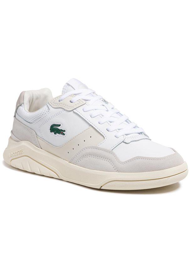 Lacoste - Sneakersy LACOSTE - Game Advance Luxe721 Sma 7-41SMA001565T Wht/Off Wht. Okazja: na co dzień. Kolor: biały. Materiał: zamsz, skóra. Szerokość cholewki: normalna. Styl: casual, sportowy