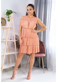 Pomarańczowa sukienka wizytowa Merribel