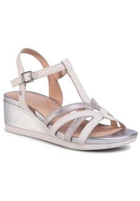 Białe sandały Geox casualowe, na co dzień