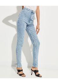 ISABEL MARANT - Niebieskie jeansy skinny Nikino. Okazja: na co dzień. Stan: podwyższony. Kolor: niebieski. Długość: długie. Styl: sportowy, klasyczny, casual