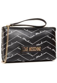 Czarna kopertówka Love Moschino elegancka