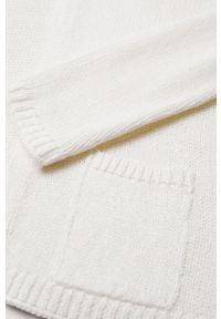 Biały sweter Mango Kids na co dzień, casualowy, gładki #5