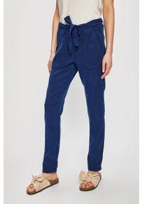 Niebieskie spodnie materiałowe Pepe Jeans casualowe, na co dzień