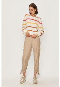 Wielokolorowy sweter Tommy Jeans z długim rękawem, z okrągłym kołnierzem