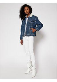 Levi's® Kurtka jeansowa Ex-Boyfriend Sherpa Trucker 36137-0034 Granatowy Regular Fit. Kolor: niebieski. Materiał: jeans