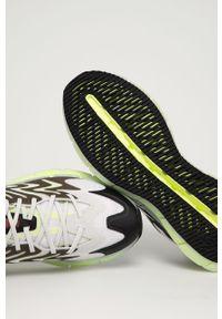 Białe sneakersy Reebok z cholewką, z okrągłym noskiem, na sznurówki