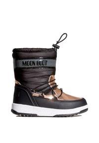Moon Boot - Buty MOON BOOT JR GIRL SOFT WP. Materiał: nylon, kauczuk. Szerokość cholewki: normalna. Wzór: nadruk. Styl: retro, młodzieżowy, glamour
