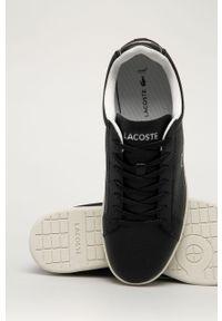 Czarne sneakersy Lacoste z cholewką, na sznurówki