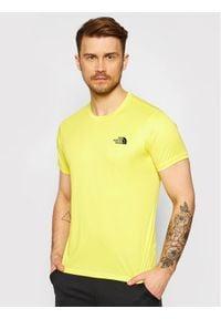 The North Face T-Shirt Reaxion Red Box NF0A4CDWDW91 Żółty Regular Fit. Kolor: żółty