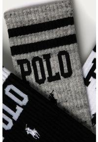 Białe skarpetki Polo Ralph Lauren z nadrukiem