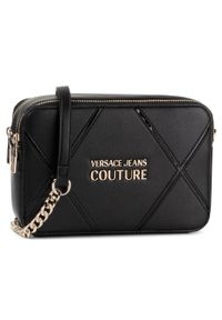 Czarna torebka Versace Jeans Couture z aplikacjami
