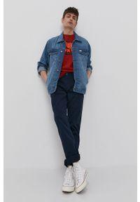 Niebieskie spodnie Tom Tailor gładkie