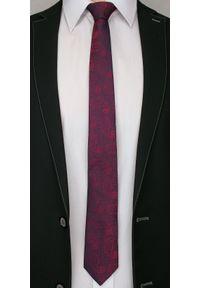 Alties - Bordowy Elegancki Krawat Męski -ALTIES- 6 cm, Paisley, Łezka. Kolor: czerwony. Materiał: tkanina. Wzór: paisley. Styl: elegancki
