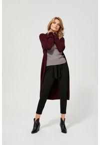 Sweter MOODO z dekoltem w serek, z długim rękawem