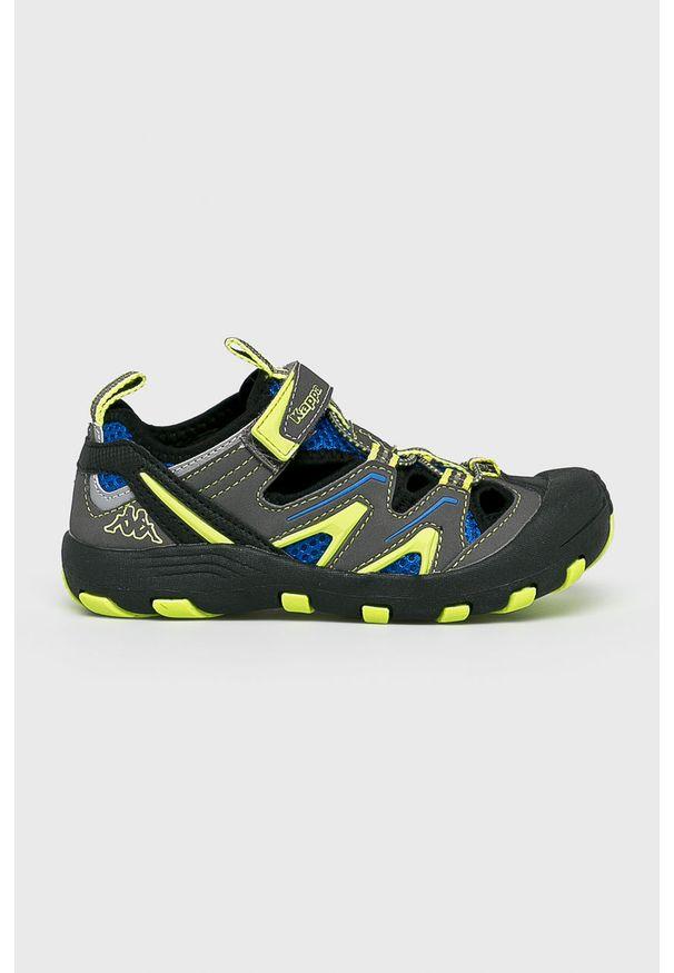 Kappa - Sandały dziecięce Reminder. Nosek buta: okrągły. Zapięcie: rzepy. Kolor: szary. Materiał: syntetyk, guma, materiał