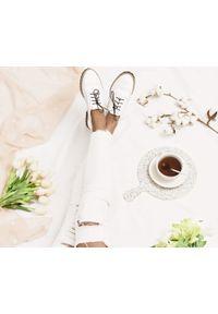 Białe półbuty Zapato z okrągłym noskiem, wąskie, na lato, klasyczne