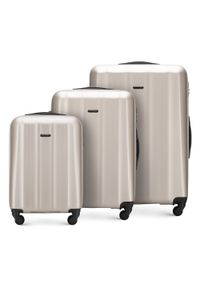 Wittchen - Zestaw walizek z polikarbonu fakturowanych. Materiał: guma. Styl: klasyczny