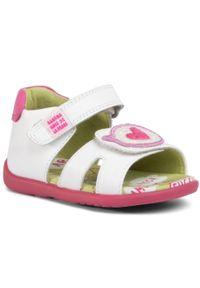 Białe sandały Agatha Ruiz de la Prada z aplikacjami
