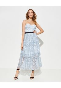 Niebieska sukienka elegancka, na imprezę