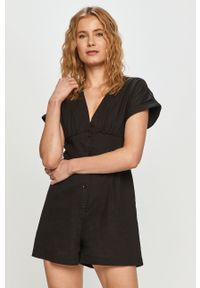 Czarny kombinezon Pepe Jeans na co dzień, gładki, z krótkim rękawem, casualowy #5