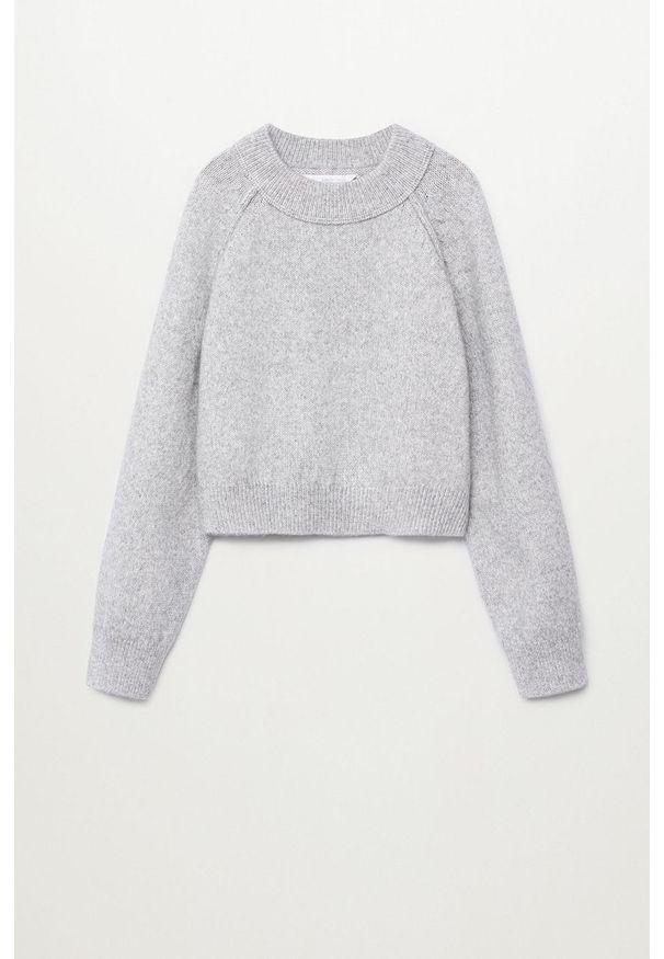 Szary sweter Mango Kids raglanowy rękaw