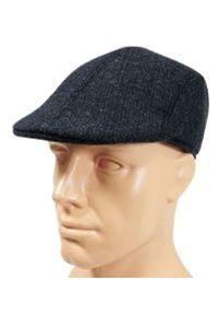 Niebieska czapka Pako Jeans na zimę, jodełka