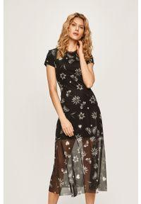 Czarna sukienka Desigual casualowa, prosta