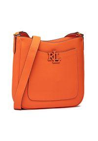 Lauren Ralph Lauren - Torebka LAUREN RALPH LAUREN - Cameryn 29 431837539004 Orange. Kolor: pomarańczowy. Materiał: skórzane. Styl: elegancki
